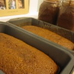 Fresh Pumpkin Bread Loaves