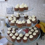 Rum Raisin Carrot Cake Mini Cupcakes