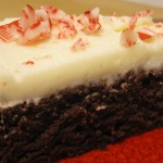 Slice of Peppermint Chocolate Cake
