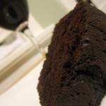 Slice of Dark Chocolate Red Wine Cake