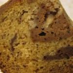 Slice of Banana Cake with Mocha Cream Filling