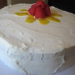 Garnished Lemon Raspberry Cake