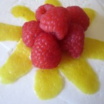 Raspberry and Lemon Peel Garnish