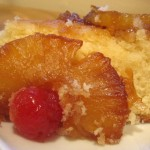 Slice of Pina Colada Pineapple Upside Down Cake