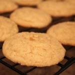 Ginger Meyer Lemon Cookies Cooling on Rack