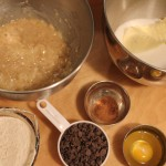 Ingredients for Banana Chocolate Chip Cookies