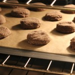 Chocolate Cayenne Cookies Baking