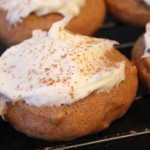 Pumpkin Butter Cookies with Cream Cheese Frosting