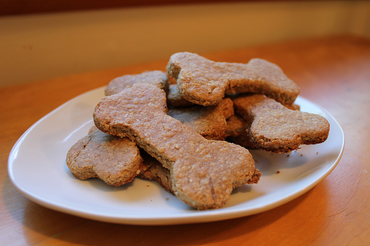 Baked Homemade Three-Ingredient Dog Treats